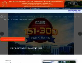 anits.edu.in screenshot