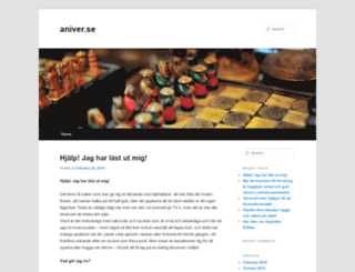 aniver.se screenshot