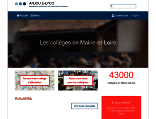 anjou.e-lyco.fr screenshot