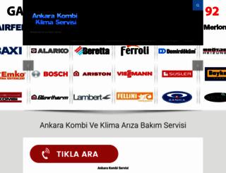 ankarakombiklimaservisi.com screenshot