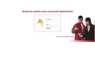 ankiety.pk.edu.pl screenshot