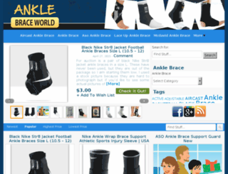anklebraceworld.com screenshot