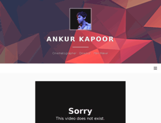 ankurkapoor.com screenshot