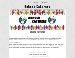 ankushcaterers.yolasite.com screenshot
