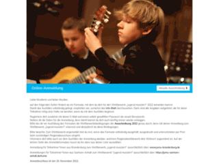 anmeldung.jugend-musiziert.org screenshot