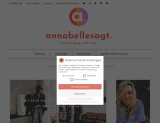 annabelle-sagt.de screenshot
