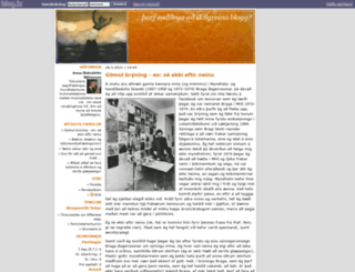 annabjo.blog.is screenshot
