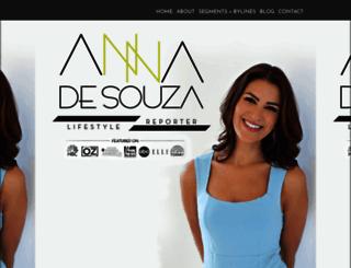 annadesouza.com screenshot