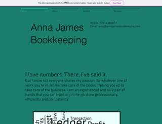 annajamesbookkeeping.com screenshot