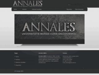 annales.umcs.lublin.pl screenshot