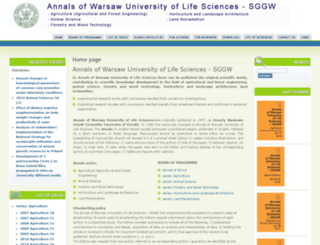 annals-wuls.sggw.pl screenshot
