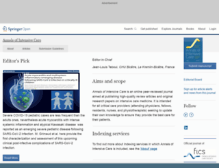 annalsofintensivecare.com screenshot