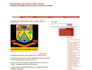 annamalaiuniversitydderesults.in screenshot
