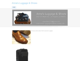 annas-luggageandshoes.weebly.com screenshot