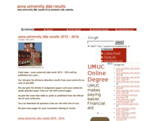 annauniversitydderesults.in screenshot
