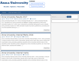 annauniversityresultsupdates.com screenshot