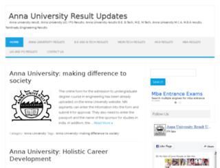 annauniversityresultupdates.com screenshot