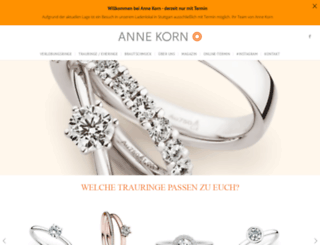 anne-korn.de screenshot