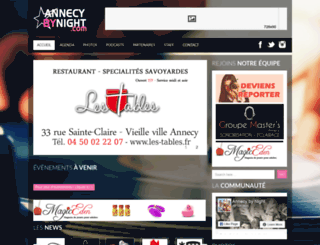 annecybynight.net screenshot