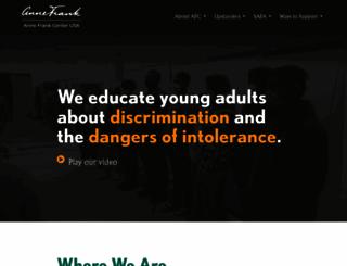 annefrank.com screenshot