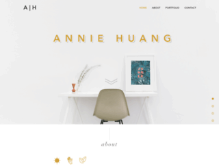 annie-huang.com screenshot