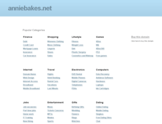 anniebakes.net screenshot