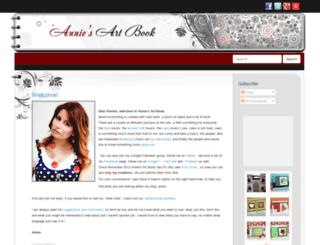 anniesartbook.com screenshot