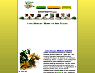 anniesremedy.com screenshot