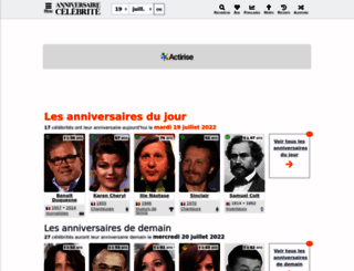 anniversaire-celebrite.com screenshot