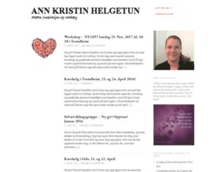 annkristinhelgetun.wordpress.com screenshot