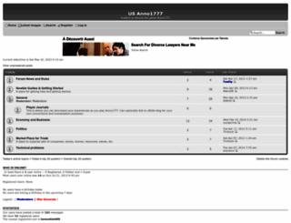 anno1777.forumotion.com screenshot