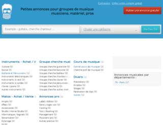 annoncemusique.com screenshot