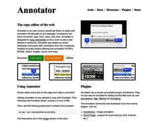 annotatorjs.org screenshot