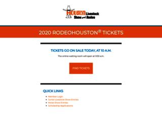 announcements.rodeohouston.com screenshot
