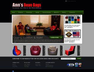 annsbeanbags.com screenshot