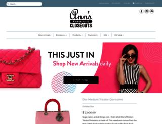 annsfabulouscloseouts.com screenshot