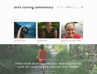 annsrunningcommentary.com screenshot