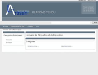 annuaire-artisan-plafond-tendu.com screenshot