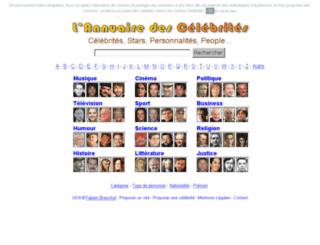 annuaire-celebrite.com screenshot