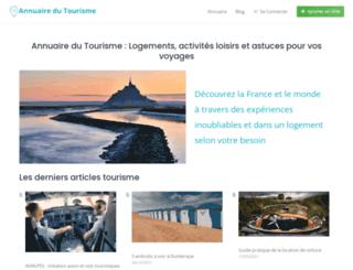 annuaire-du-tourisme.net screenshot