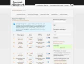 annuaire-hebergement.info screenshot