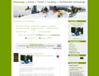 annuaire-motoneige.com screenshot