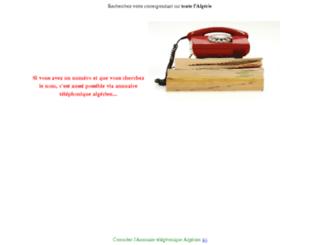 annuaire-telephonique-algerie.ajout-url.com screenshot