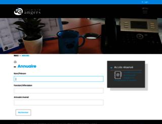 annuaire.univ-angers.fr screenshot