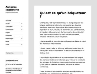 annuaireimprimerie.ca screenshot