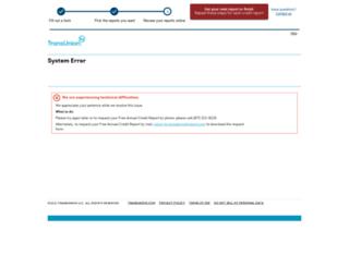 annualcreditreport.transunion.com screenshot
