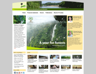 annualreport2011.cifor.org screenshot