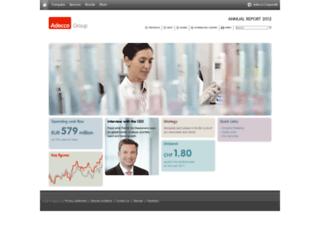 annualreport2012.adecco.com screenshot