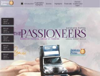 annualreports.akshayapatra.org screenshot