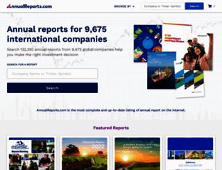 annualreports.com screenshot